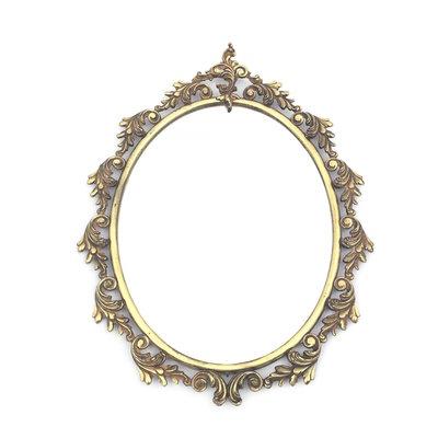 Sierlijke spiegel messing