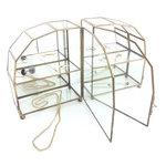 Set van twee mini messing glazen vitrinekastjes hemel | Sprinkel + Hop