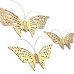 Set messing vlinders voor aan de wand   Sprinkel + Hop