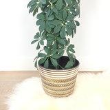 Bloempot XL reliëf bruin | Sprinkel + Hop