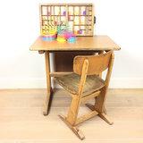 Vintage Casala schooltafel met schoolstoel | Sprinkel + Hop