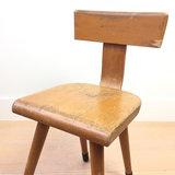 Vintage houten schoolstoel   Sprinkel + Hop