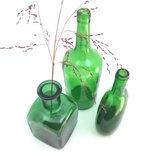 Set glazen flesvazen groen | Sprinkel + Hop