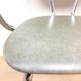 Vintage metalen stoel chroom groen skai leer | Sprinkel + Hop
