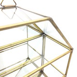 Open glazen vitrinekastje messing | Sprinkel + Hop