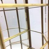 Vintage glazen mini vitrinekastje messing | Sprinkel + Hop