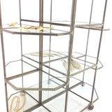 Vintage glazen vakvitrinekastje messing   Sprinkel + Hop