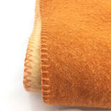 Vintage wollen deken ecru roestbruin 150 x 220 | Sprinkel + Hop