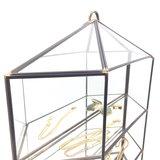 Vintage glazen vitrinekastje messing   Sprinkel + Hop