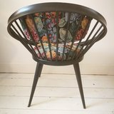 Cirkel stoel Yngve Ekstrom Zwart Bloemen | Sprinkel + Hop
