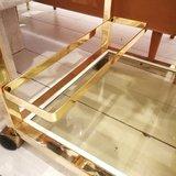 Bar Cart serveerwagen trolley goudkleurig | Sprinkel + Hop