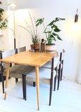 Vintage licht houten eettafel | Sprinkel + Hop