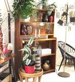 Vintage houten vitrinekast wandkast   Sprinkel + Hop