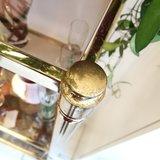 Hollywood regency open kast messing rookglas | Sprinkel + Hop