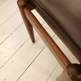 Vintage voetenbankje bruin | Sprinkel + Hop