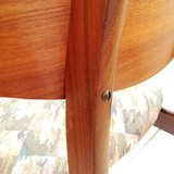 Vintage houten stoel stoffen zitting   Sprinkel + Hop
