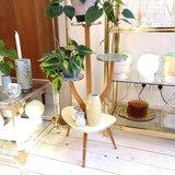 Vintage jaren '50 pastel plantenstandaard | Sprinkel + Hop