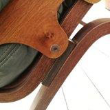 Vintage groene leren stoel Igmar Relling | Sprinkel + Hop