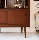 Vintage houten wandkast vitrinekast | Sprinkel + Hop