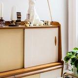 Vintage teak houten wandkast | Sprinkel + Hop