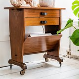 Vintage houten lectuurtafeltje met lades | Sprinkel + Hop