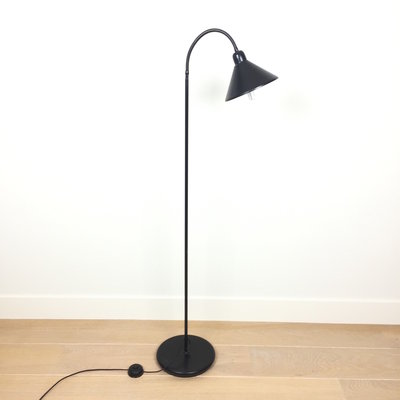 80s vloerlamp zwart