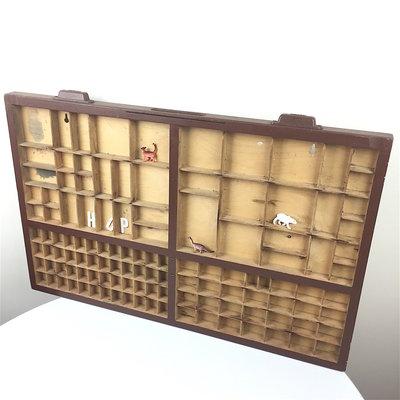 Vintage houten letterbak