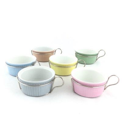 Vintage souffle ovenschaaltjes Rosenthal pastel