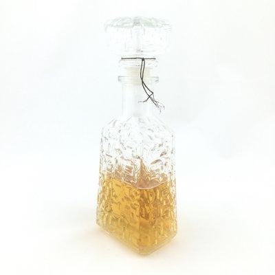 Glazen whiskey karaf rechthoekig