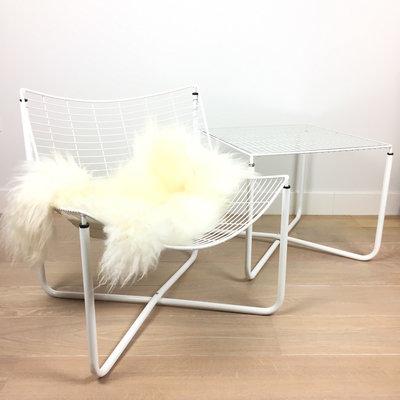 Järpen draadtafel en draadstoel wit Niels Gammelgaard voor Ikea