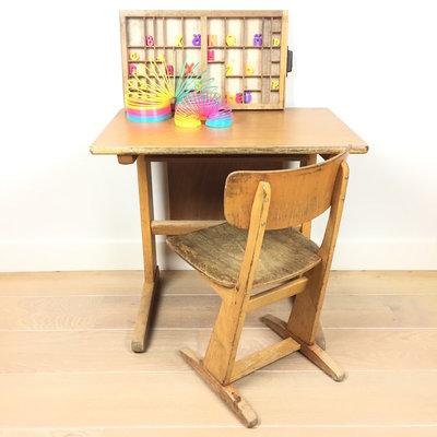 Vintage Casala schooltafel met schoolstoel