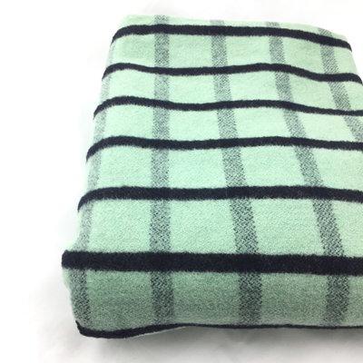 Vintage wollen deken groen 140 x 200