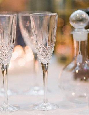Set champagne glazen kristal