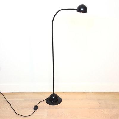 Vintage vloerlamp zwart metaal Hustadt Leuchten