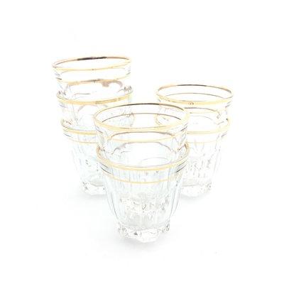 Vintage Franse likeurglaasjes shot glazen