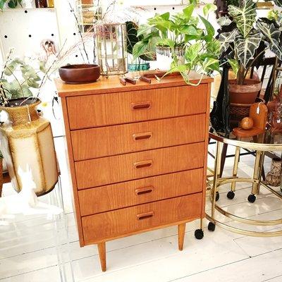 Vintage houten ladekast