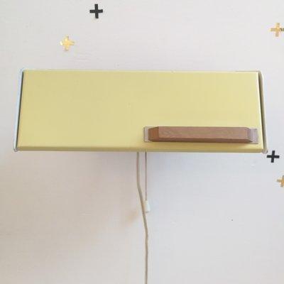 Vintage Hiemstra Evolux wandlampje geel
