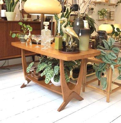 Vintage salontafel hout art deco