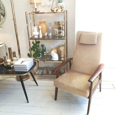 Vintage Topform fauteuil stoel velours