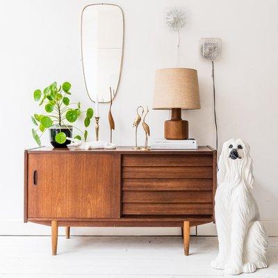 Zweeds teak houten dressoir Trio - N Jonsson voor Troeds