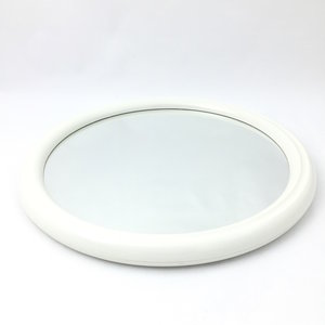 Jaren 70 spiegel rond gebroken wit