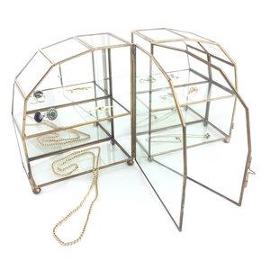 Super Set van twee mini messing glazen vitrinekastjes hemel   Sprinkel + Hop ZB-18