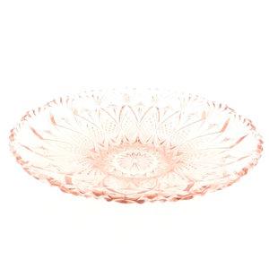 Art Deco glazen schaal roze persglas | Sprinkel + Hop