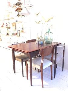 Vintage palissander eettafel uitschuifbaar | Sprinkel + Hop