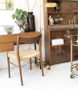 Houten Deense design stoel papercord zitting | Sprinkel + Hop