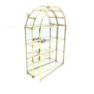 Vintage glazen hemel vitrinekastje messing | Sprinkel + Hop