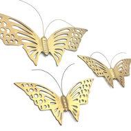 Set messing vlinders voor aan de wand | Sprinkel + Hop